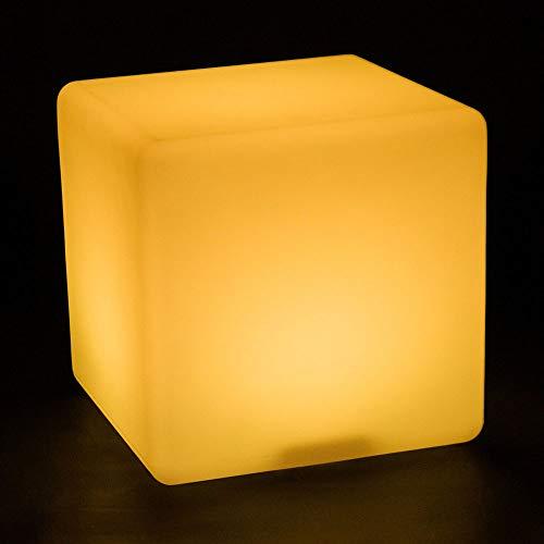 QAZX Indoor/Outdoor Dimmbare Wiederaufladbare LED-Würfel mit Ferngesteuerte Wasserdicht Hocker, Beruhigende Emotional Beleuchtung Dekorative Beleuchtung Kinder Beleuchtet Hocker (16 RGB-Farben)