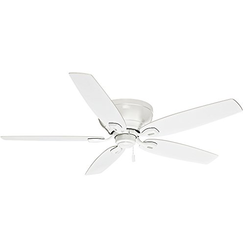 Hunter Fan Casablanca Durant Indoor Low Profile Ceiling Fan with Pull Chain Control, White, 54-inch (54103)