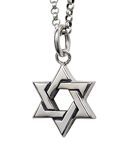 RXSHOUSH Collar con colgante de estrella de seis puntas de plata 925, joyería personalizada, varias cadenas de plata, collares de regalo para niños y niñas, hijo, novio, de 50 cm de grosor