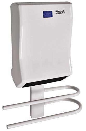 Einhell Badheizer BH 2000/1 H (2000 W, 2 niveles de calor, termostato ajustable, 3 modos de calor, temporizador de 24 horas, ventilador silencioso, protección contra sobrecalentamiento, toallero