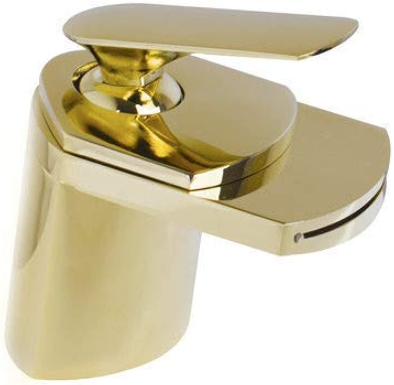 Oudan Waterfall Spout Soild Brass Body Basin Torneira New Brand Bathroom Chrome Deck Mount L06 Single Handle Sink Faucets,Mixer Taps,C (color   D, Size   -)