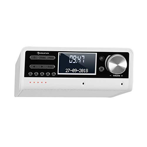 auna Intelligence Dab+ - Radio de Cocina, Radio Dab+ FM, Radio bajo Mueble, Potencia Media de 5 W, Control de Voz Alexa, Memoria de emisoras, Spotify, Bluetooth, Multsala, Pantalla LCD, Blanco