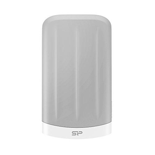 Silicon Power SP020TBPHD65MS3GEU Disque dur externe pour MAC 2 To USB 3.0 Blanc . Etanche a l'eau et antichoc