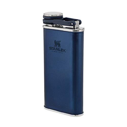 Stanley Classic Wide Mouth Flask 0.23L / 8OZ Nightfall with Never-Lose Cap – Petaca de Acero Inoxidable de boca ancha para llenar y verter fácilmente - Petaca aislante Anti-Fugas Sin BPA