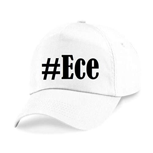 Reifen-Markt Base Cap Hashtag #Ece Größe Uni Farbe Weiss Druck Schwarz
