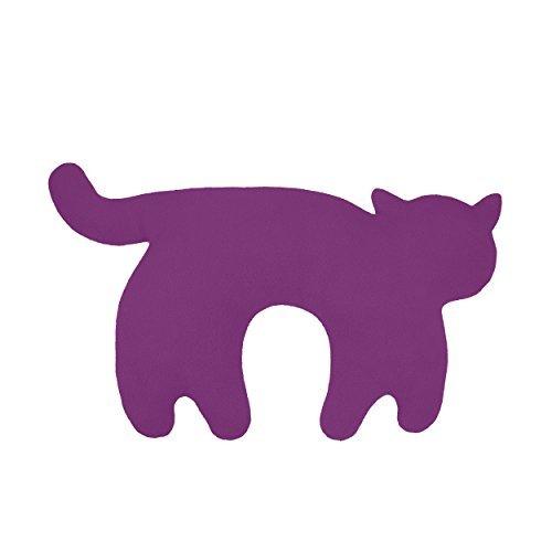 Leschi Nackenkissen Die Katze Feline, Purpur/Mitternacht
