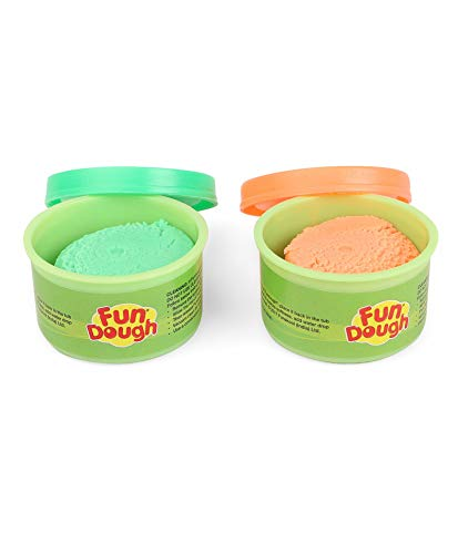 Fundough - Fun Pack , Shaping and Sculpting , 3years + , Multi-Colour 6