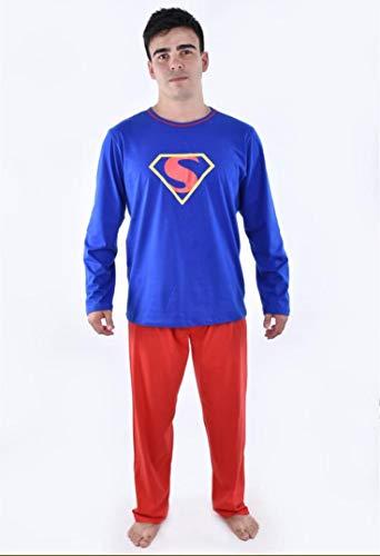 Pijama SuperMan Adulto Azul Masculino Inverno Pai SuperHomem (G)