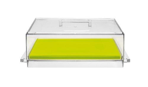 Zak Designs 0989-830 Boite à Fromage avec Plateau de Découpe Vert Cheesy 19 x 32 cm