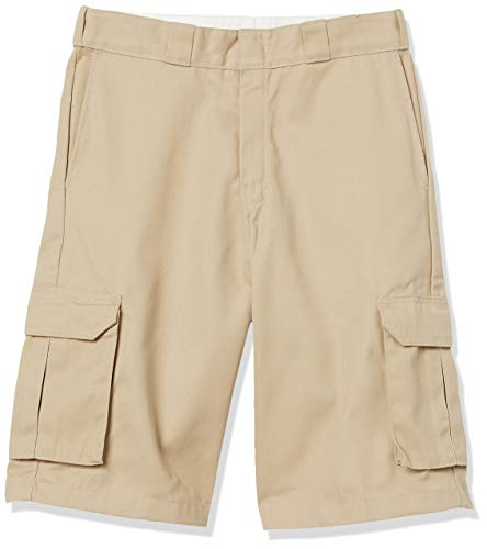 Dickies Men's 13 Inch Loose Fit Twill Cargo Short, Desert Sand, 38