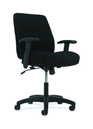 HON Network Mid-Back Task Chair - Swivel-Tilt Computer Chair for Office Desk, Black Fabric (HVL282.Z1)
