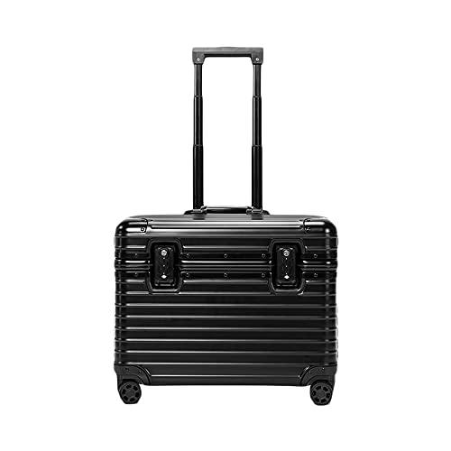 アルミ製スーツケース TSAロック搭載 機内持ち込み 全8色 トランク アルミ合金ボディ 旅行用品 キャリーバッグ キャリーケース小型 YTW11 (ブラック, 22インチ)