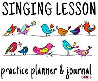 Singing Lesson Practice Planner & Journal (Birds)