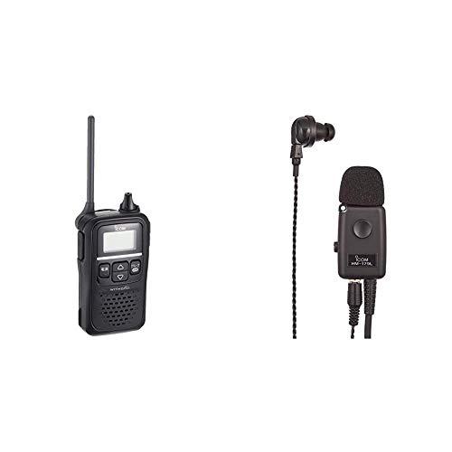 【セット買い】アイコム 特定小電力トランシーバー 20ch ブラック IC-4110 & イヤホンマイクロホン IC-4110/IC-4188D用 HM-179L