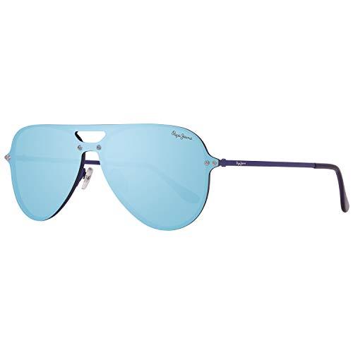 Pepe Jeans PJ5132C4143 Sonnenbrille PJ5132 C4 140 Briggs Rund Sonnenbrille 143, Blau