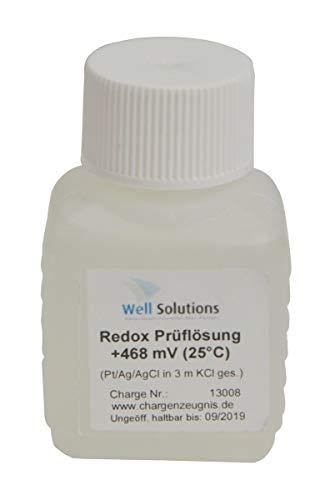 Well Solutions Redox Pufferlösung 468 mV BZW. 475mV (bei 25°C) / 50 ml/für Kalibrierung und Aufbewahrung von Redox-Elektrode/für automatische Dosieranlage