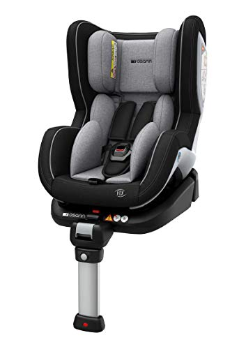 Osann Reboard Kindersitz Fox Isofix - Gruppe 0+/1, 0-18 kg, 0 bis circa 4 Jahre ECE R44/04, Grey Melange