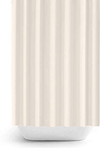 Zethome - Tenda da doccia extra lunga, 120 x 200 cm, in tessuto di poliestere, impermeabile, antimuffa, con ganci per tende Colore: panna.