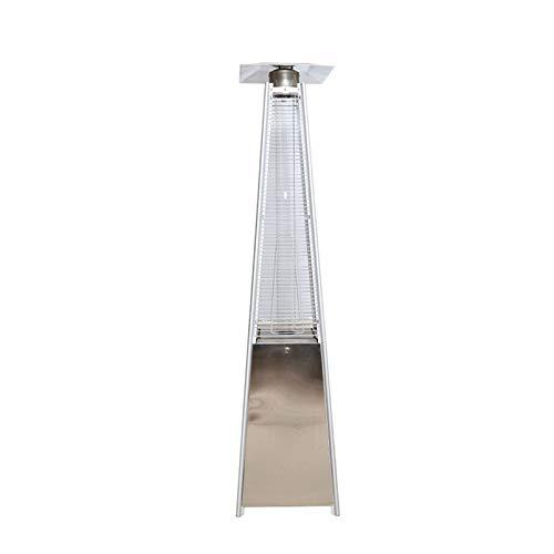 YRRA Calefactor estilo pirámide impermeable, calentador para exteriores, ideal para calefacción, calefacción compacta y ligera, para jardín, boda, fiesta, color plateado