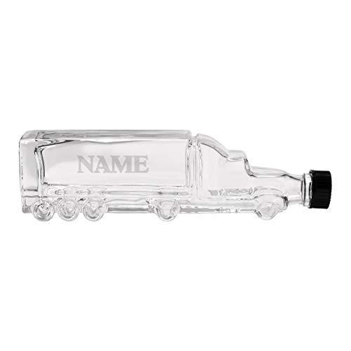 Herz & Heim® LKW Karaffe 0,2 l - als Whiskykaraffe, Rumflasche oder Likörflasche mit Namensgravur