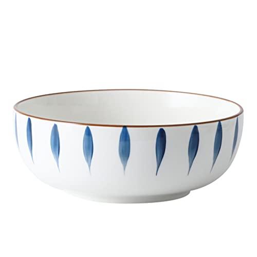 UPKOCH Ceramic Soup Bowls Salad Ramen Bowls Porcelain Cereal Pasta Serving Bowl Pasta Bowls Food Container for Rice Prep Fruit Home Restaurant Kitchen Oatmeal