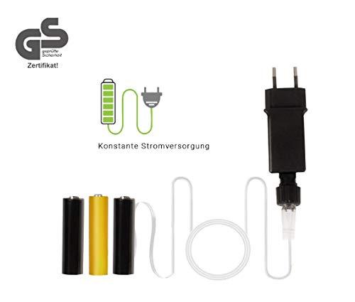 Vanorell Netzteil Adapter Batterieersatz Batterie AA / R06 und AAA / R03 Batterie ersetzt duch Netzteil Batterieadapter