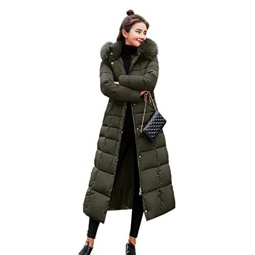 kisshes Damski damski długi wyściełany płaszcz puchowy zimowy ciepły bawełniany pikowana kurtka parka ze zdejmowanym sztucznym futrem