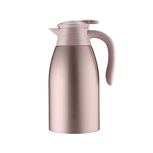 Miao. 304 roestvrijstalen koffie thermoskan - 2 l dubbelzijdig geïsoleerd vacuüm Thermal voor sap/melk/thee/water