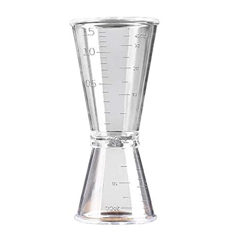 DANDANdianzi Doppio Netto Jigger Ounce Coppa della Resina di plastica di Latte per tè e caffè miscelazione Oz Scala di misurazione Cup Home Bar Applica