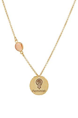 Córdoba Jewels   Gargantilla en Plata de Ley 925 bañada en Oro. Diseño Fiminist Coral Oro