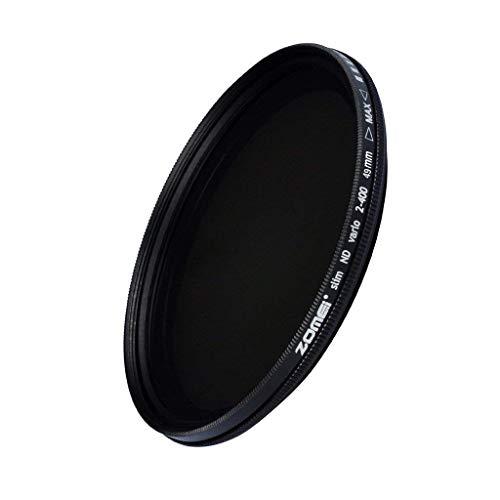 ZOMEI Einstellbare 49mm Fader ND-Filter Neutrale Dichte ND2 - ND400 für DSLR-Kamera-Objektiv, Optisches Glas
