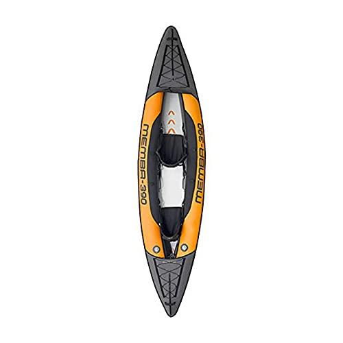 Gaoweipeng Uppblåsbar kajak unisex vuxen 1-2 personer som reser fiskebåt bärbar flotta vikbar förtjockad kanotflotte stabilitet svävare bolag vardaglig drivbåt, 2 personer utan åror