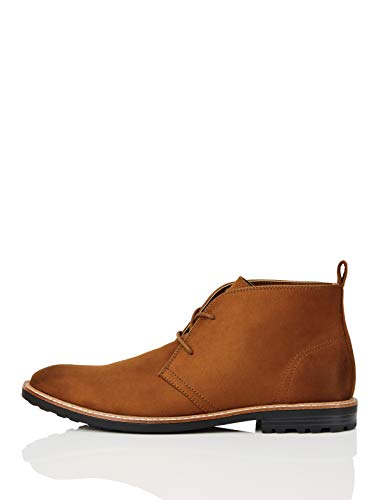 Marca Amazon - FIND Boots Botas Chukka, Marrón (Tan), 43 EU