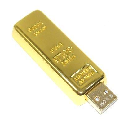 USB Speicherstick Goldbarren Imitation 4 GB