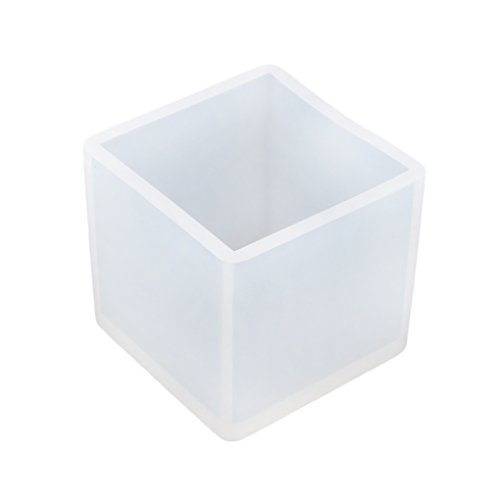 Babysbreath Cube 9mm Moule en Silicone Bijoux Pendentif Moule à l'Artisanat Résine avec Hole Hole Outil DIY 25x25x25mm