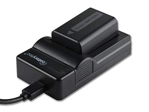 Batterytec Batería de Repuesto para Sony NP-FW50, Sony Alpha a5100 a6500 a6400 a6300 A7 α7Ⅱ NEX-5N NEX-F3 SLT-A37 NEX-7 NEX-6,y Micro USB portátil Kit de Cargador. [1030mAh,12 Meses de garantía]