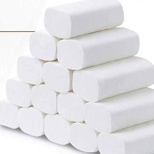 12Roll Exiao Recycled Fiber Paper Towels, White, 12 Multifold Family Towels Per Rolls, 12 Packs Per Case