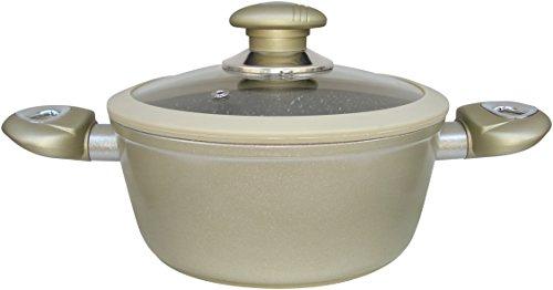 Callaway Cacerola de Aluminio Forjado, mármol, 20 cm, Champagne