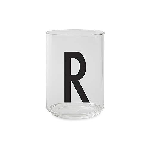 Design Letters Verre à boire personnel - R - Verre décoratif disponible de A-Z, Idéal pour l'eau et les boissons, Va au lave-vaisselle, 350 ml, H: 10,5 x D: 7,5cm