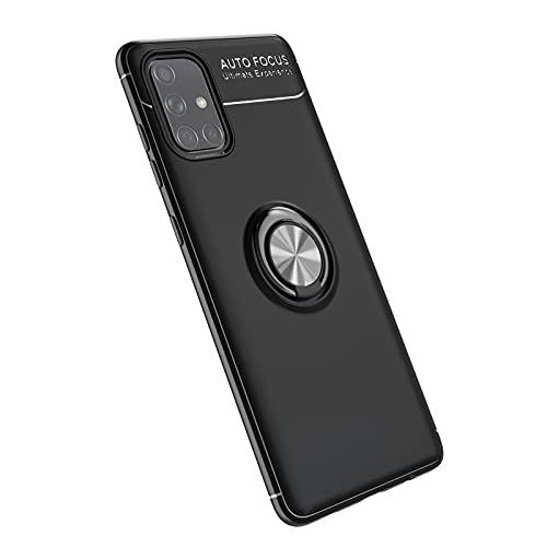 Bolso de un teléfono portátil Para Samsung Galaxy A71 5G Funda, para Samsung Galaxy A Caso Quantum TPU Soft TPU Rotativo Metal Anillo Magnético Kickstand DISIPACIÓN DE CALOR DESCIPACIÓN DE CAÍDA PROTE