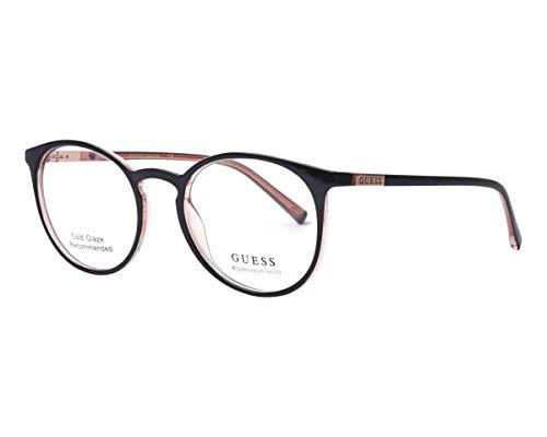 Guess Brille (GU-3045 001) Acetate Kunststoff schwarz glänzend - pink glitzer