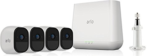 ARLO Pro VMS4430 Sistema di Videosorveglianza Wi-Fi, Kit Base con 4 Telecamere di Sicurezza, Audio a 2 Vie, HD, Visione Notturna, Interno/Esterno, Funziona con Alexa e Google Wi-Fi