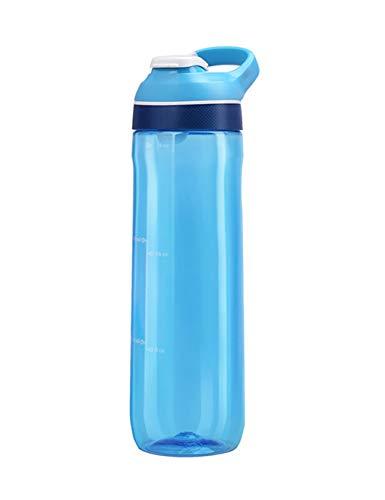 LLJPFD7J 750ml mit Waage Flasche, große Kapazität tragbar, geeignet für Outdoor-Fitness-Reisen nach Hause Schule (Color : Blue)