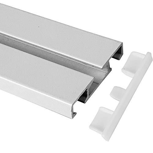 Bestlivings - Tappi terminali (2 pezzi) per binari per tende in alluminio – bianco 1/2