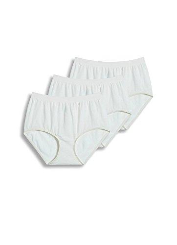 Jockey Women's Underwear Comfies Cotton Brief - 3 Pack, Ivory, 8