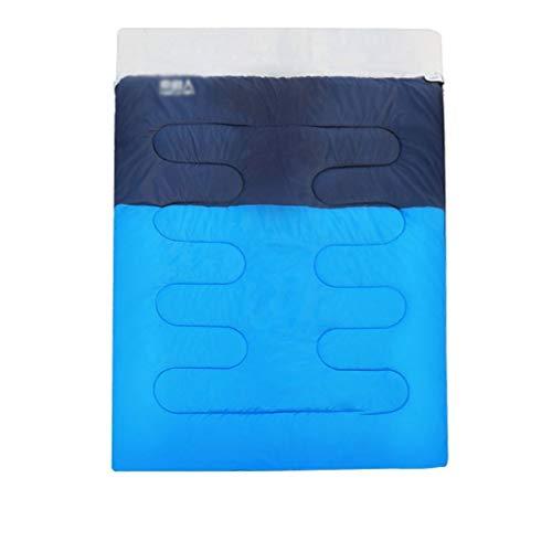 SSG Home Durable et Beau Sac de Couchage Outdoor Voyage Camping Polyester Coton épais Chaud Adulte Voyage intérieur Respirant Portable étanche Confortable et Portable (Color : C)