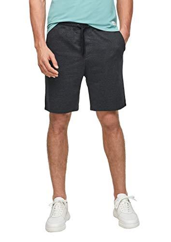 Q/S designed by - s.Oliver Herren Regular Fit: Shorts aus Sweat black heringbone S