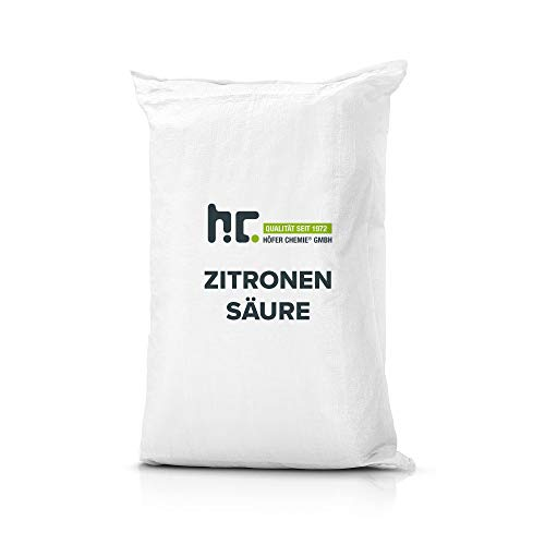 Höfer Chemie 25 kg Zitronensäure Granulat in Lebensmittelqualität - Entkalker, Allzweckreiniger und für DIY Pflege- & Reinigungsprodukte