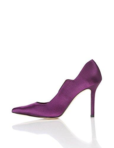 find. Pumps Damen mit Samt-Look und gestuftem Ausschnitt, Violett (Purple), 37 EU