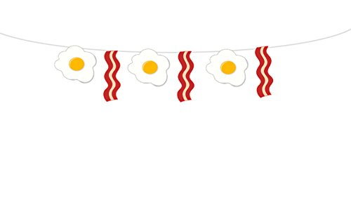 Bacon and Eggs Garland, Bacon and Eggs Banner, Breakfast Garland, Breakfast Banner, Photo Prop